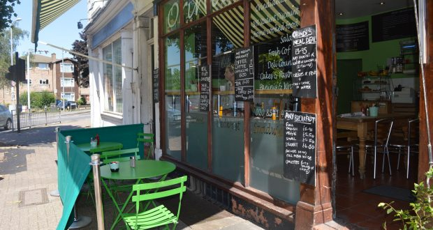 Enjoy seating outside Orindi's Deli Cafe Photo credit: Jayne Solovey