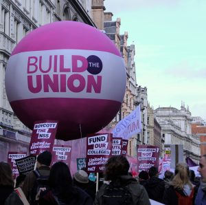 University and College Union (UCU) supported the National Union of Students (NUS) Photo: Chanelle Field