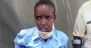 Ali Abdi-Omar in a video appeal by his family. Photo: Cabdimaalik Muse Coldoon