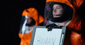 Amy Adams plays a linguistic professor in the new sci-fi film, Arrival (2016) Photo by REX/Shutterstock (7426274f)
