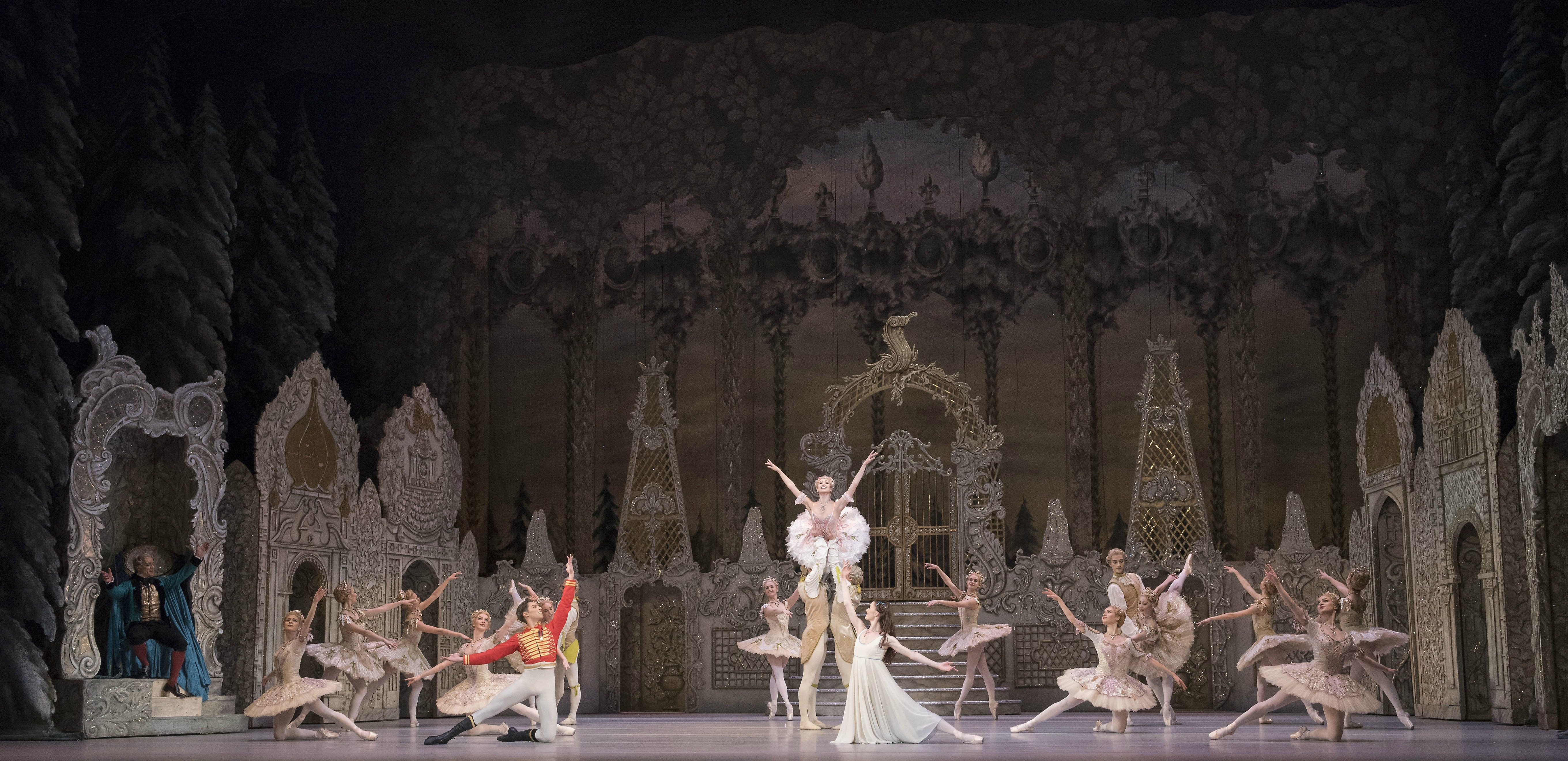 Artists of The Royal Ballet in the Nutcracker. Photo by Alastair Muir/Rex Features