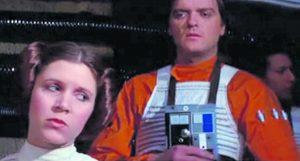 Angus MacInnes as a rebel pilot behind Carrie Fisher as Princess Leia. Photo: Johanna Christoph