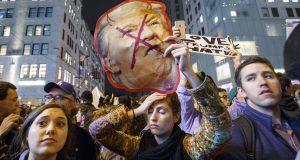 Reaction to the US presidential election results, New York, USA - 09 Nov 2016  Photo by Tolga Akmen/Rex Features