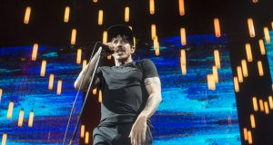 Anthony Kiedis on the Getaway tour in Munich Photo by Action Press/REX/Shutterstock