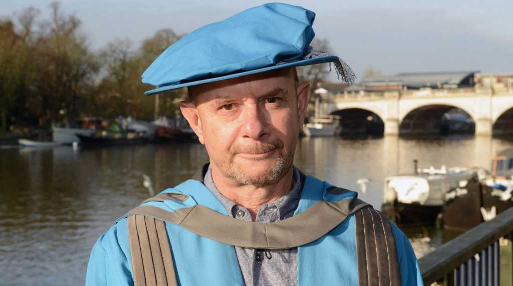 About A Boy author Nick Hornby receives Honorary Degree from Kingston University