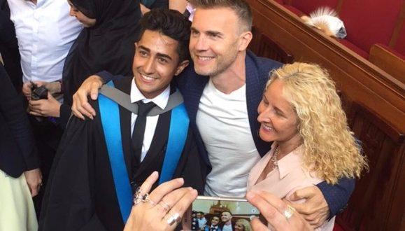 Gary Barlow surprised Anthony at his graduation. Photo Credit: Anthony Sahota