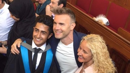 Gary Barlow surprises KU student at graduation to invite him to compete in BBC's Let It Shine