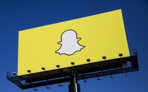 Snapchat advertise their app to entice users! Photo by ddp USA/REX/Shutterstock (5331295ep)