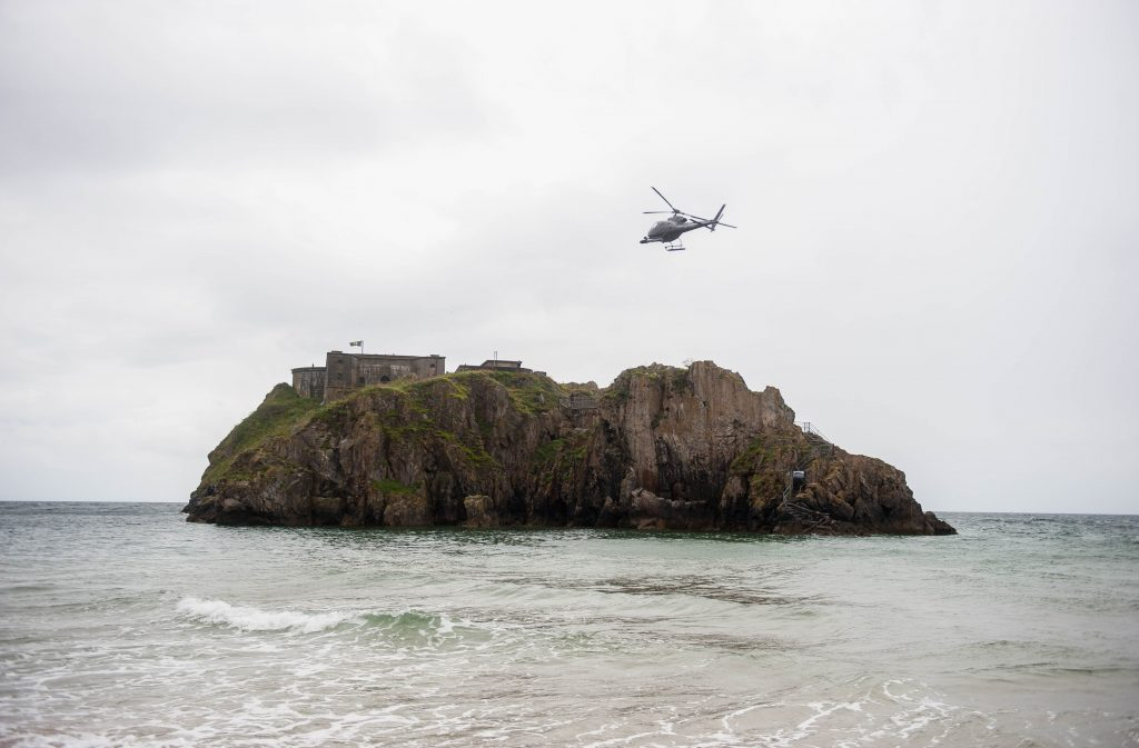 Parts of the final episode was filmed at St Catherines Island in Wales. Photo Credit: Rex Features