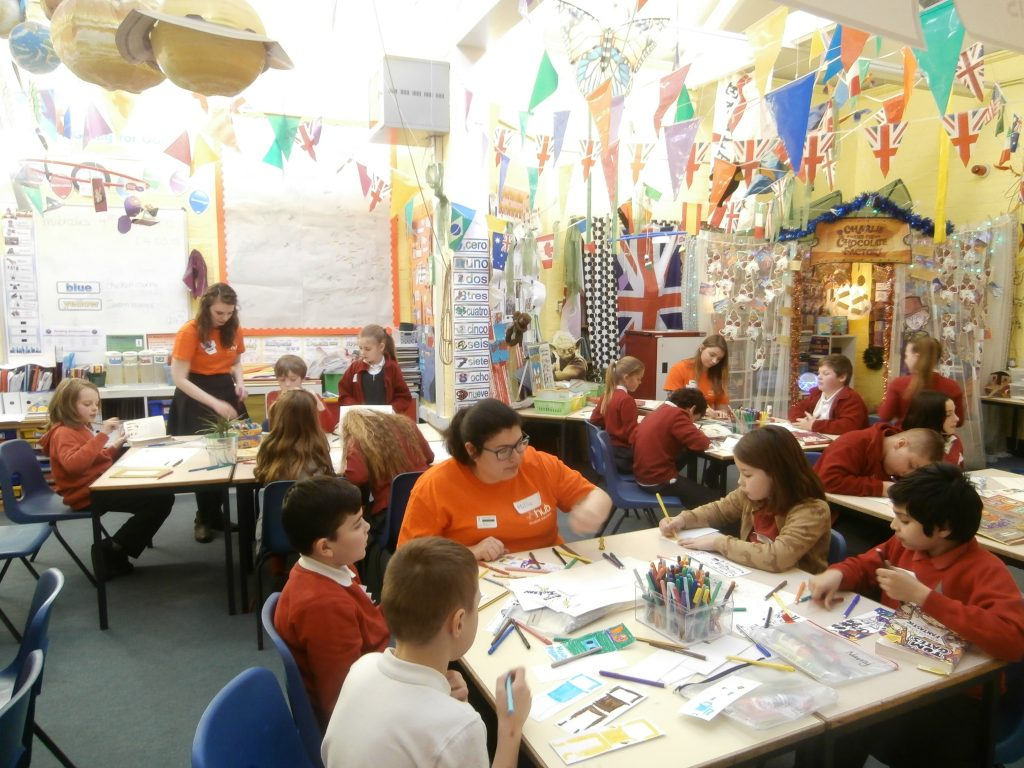 Volunteering involves helping out at primary schools and getting valuable skills. Photo by Amy Stebbings