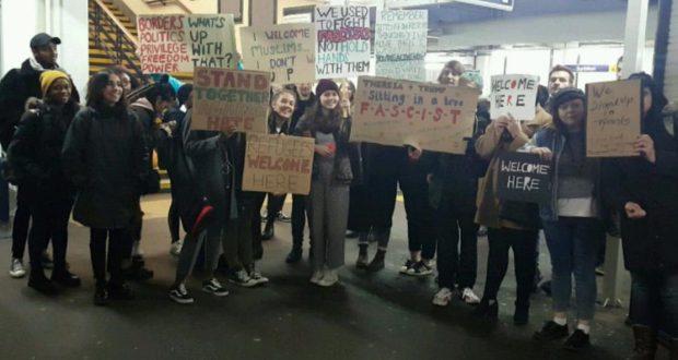 A photo of KU students at Surbiton station