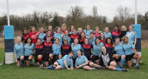Kingston University Women's Rugby Club and Imperial College Women's Rugby Club. Photo Credit: Tessa Neal