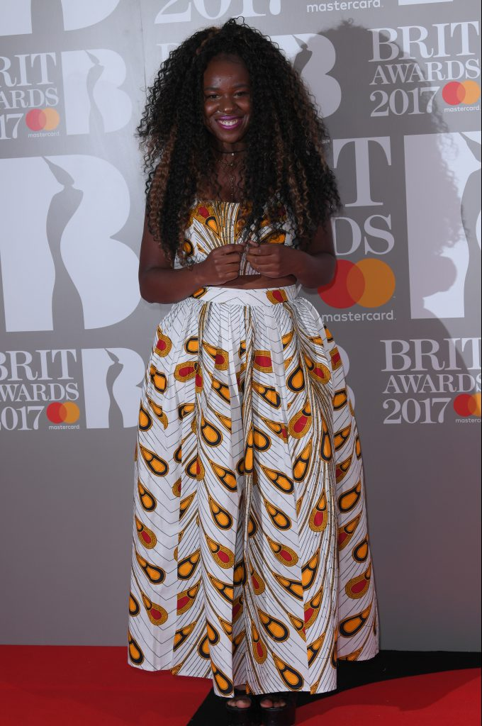 Photo Credit: Rex Features Nao graced the red carpet before going on to win her first Brit during the night.
