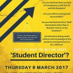 The student director role shall be chosen for the next academic year. Photo: Daisy Du Toit Facebook