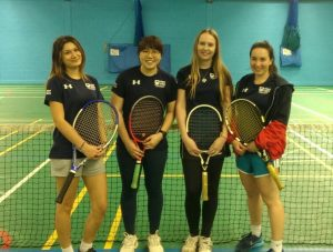 The women's tennis team after winning the league. Photo: Lucy Carpenter