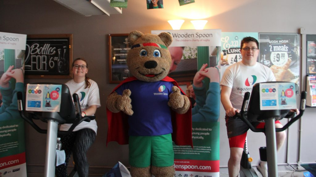 Kingston rugby teams compete in 12-hour exercise bike marathon for charity
