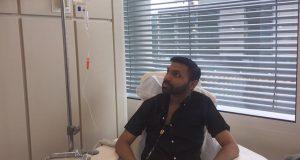 Haque while receiving treatment Photo: Haque
