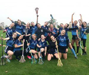 Defeat cannot ruin the lacrosse team spirit