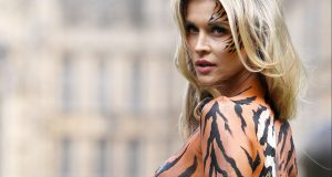Photo by James Gourley. Joanna Krupa in body paint