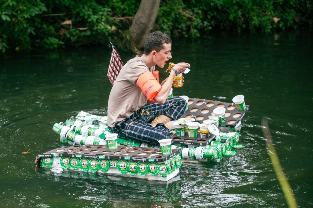 KU students make pot noodle raft