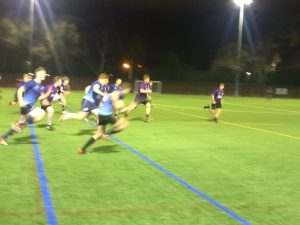The Kingston players were a constant blur to the Pompey defence, as Tom Crawshaw bares down on the try line.