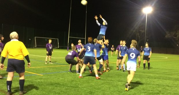 Kingston overturn one of many line outs during Wednesday night's thrashing of Portsmouth's fourth team. Photo: Louie Chandler