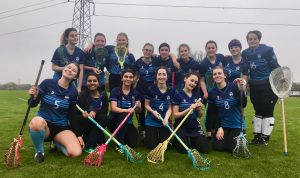 The lacrosse women played an energetic and hectic game against Chichester.