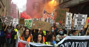 Students in anger over education cuts and unaffordable tuition fees