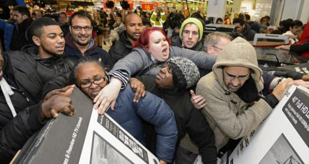 Shoppers going crazy on the annual sales event that is Black Friday