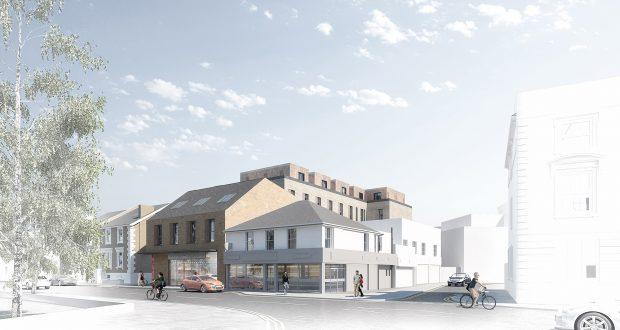 The accommodation building. Photo: Kingston University