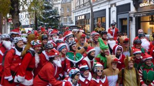 VIDEO: Njinga Santa Cycle around Richmond Upon Thames aims to raise money for Shooting Star Chase hospice