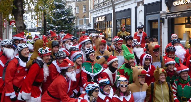 Christmas came early for some as a flurry of santas took to the streets of Richmond Upon Thames