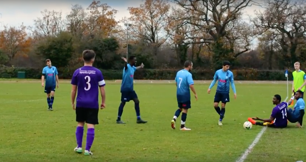 WATCH: Kingston men's first team football see off Brighton fourths in bruising encounter