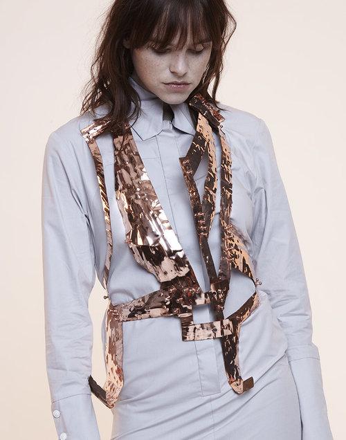 Sadie's work with sculptured copper caught the eye of the fashion world. Photo: Sadie Clayton