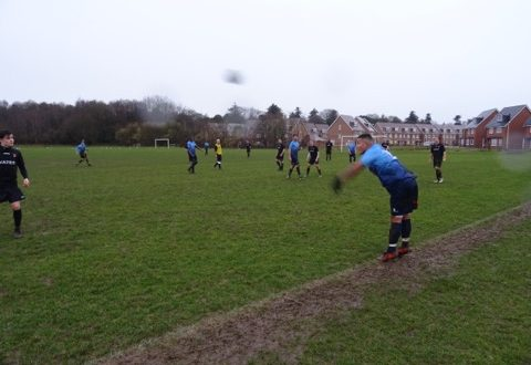 Kington Cougars played a great game despite loosing 2-1 to Reading. Photo: Aukash Zahid
