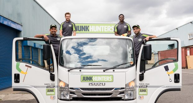Harsha Rathnayake (left) and his team. Photo: Junk Hunters