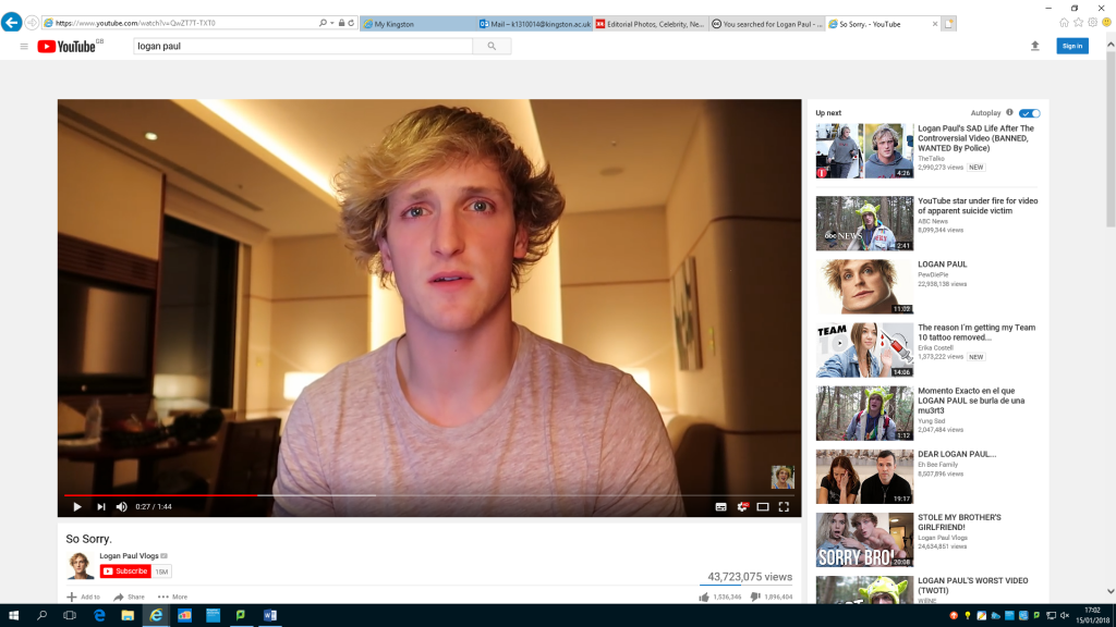 Even if Logan Paul had disappeared, nothing would have changed