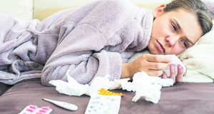 KU students have been coming down with the flu in the last month                      Photo: REX  Photo: Rex