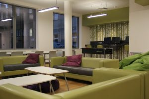 The recently refurbished common room at Kingston Bridge House