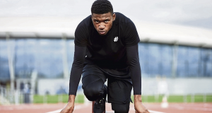 On your marks: Rhoden-Stevens has set his sights on Olympic glory.  Photo: William Cornelius