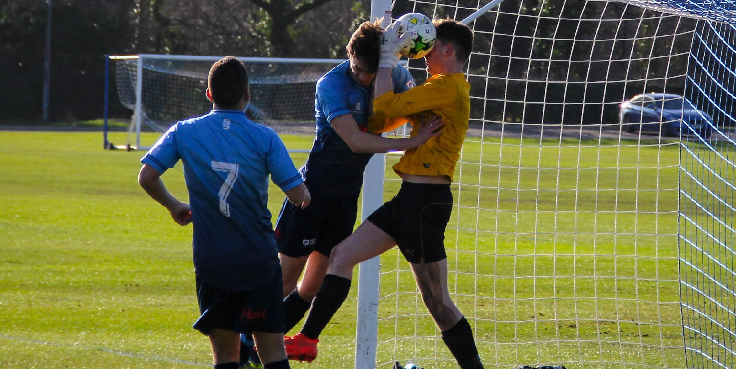 GALLERY: Reading's flurry of late goals force Kingston men's football to a bruising defeat at home.