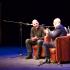 Yanis Varoufakis (left) with Kingston University's Professor of Shakespeare Studies, Richard Wilson, March 19.  Photo: Sofie Løchen Smedsrud