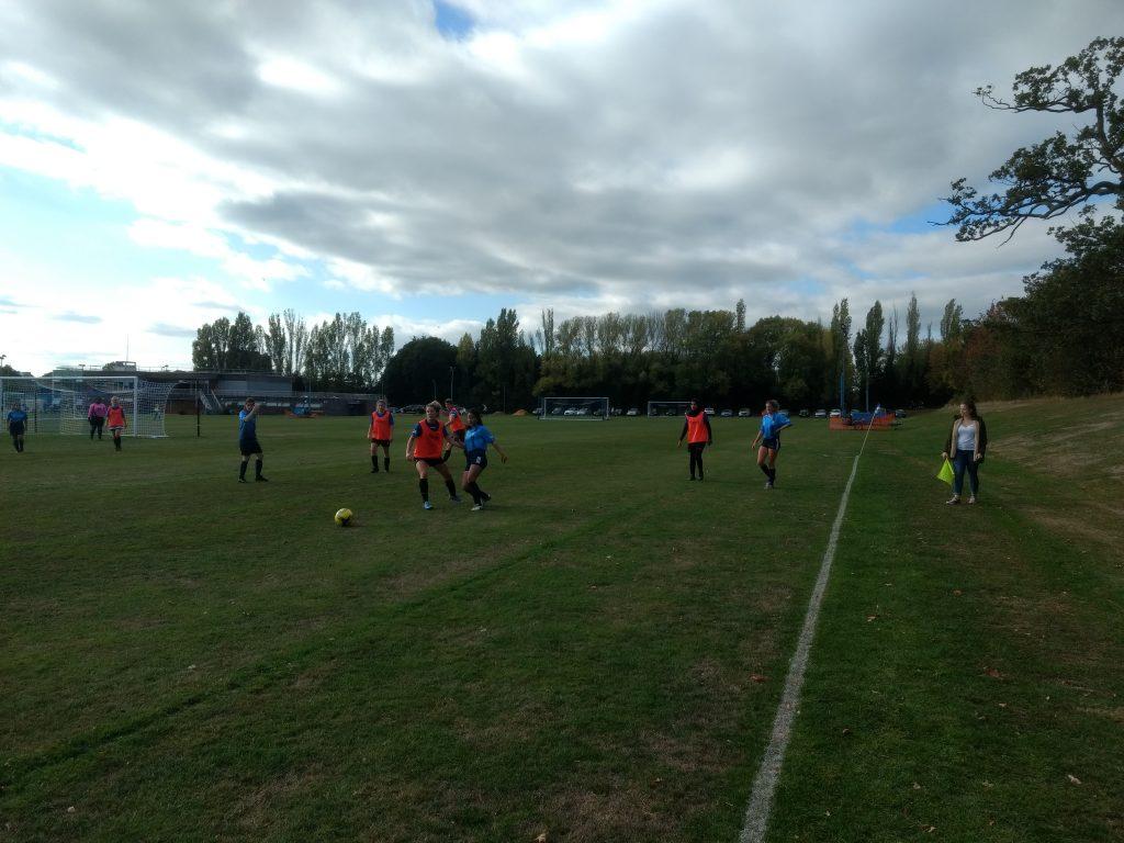Women's football goalless draw for mini varsity game