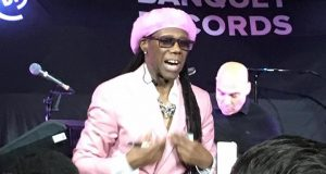 Nile Rodgers talking to his diverse audience at Pryzm