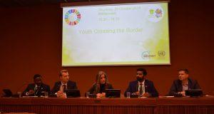 Saurabh Navande (second from right) at UN World Investment Forum in Geneva