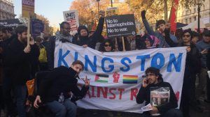 KU students march to Whitehall standing up against racism