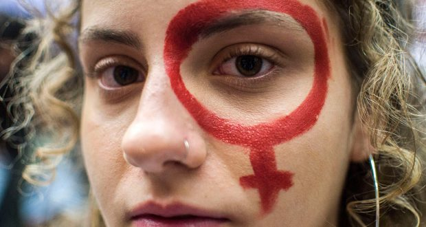 Mandatory Credit: Photo by Cris Faga/REX/Shutterstock (9452611t) Commemoration of International Women's Day. International Women's Day, Sao Paulo, Brazil - 08 Mar 2018 The International Women's Day is marked worldwide with rallies and strikes.