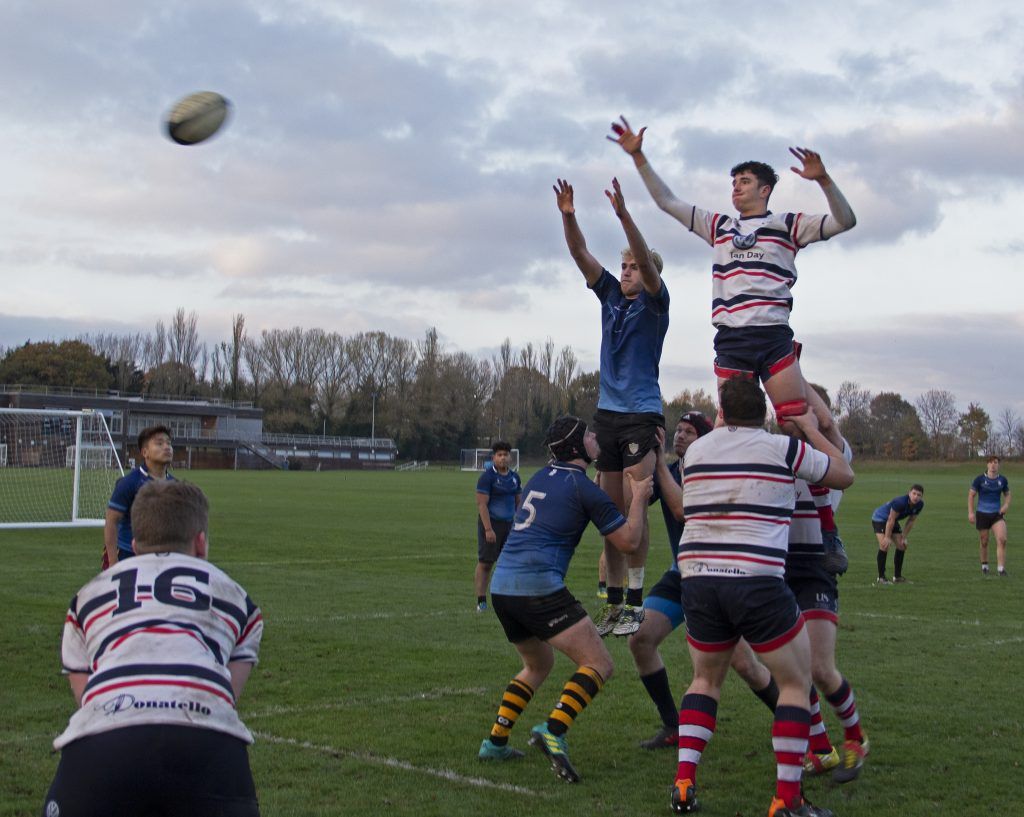 One of many line out's won by Kingston