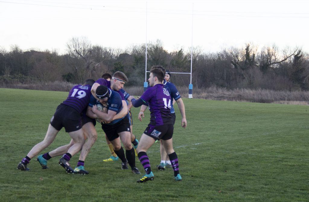The Kingston Cougars fought valiantly against Portsmouth