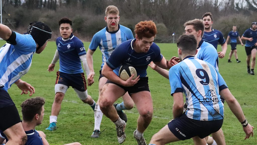 Men's rugby team beat St Mary's in thrilling match